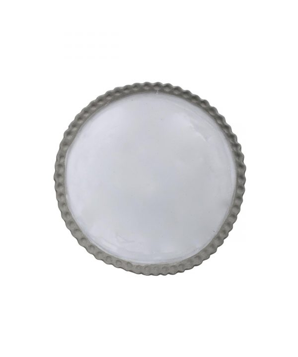 Curves white glazed platter