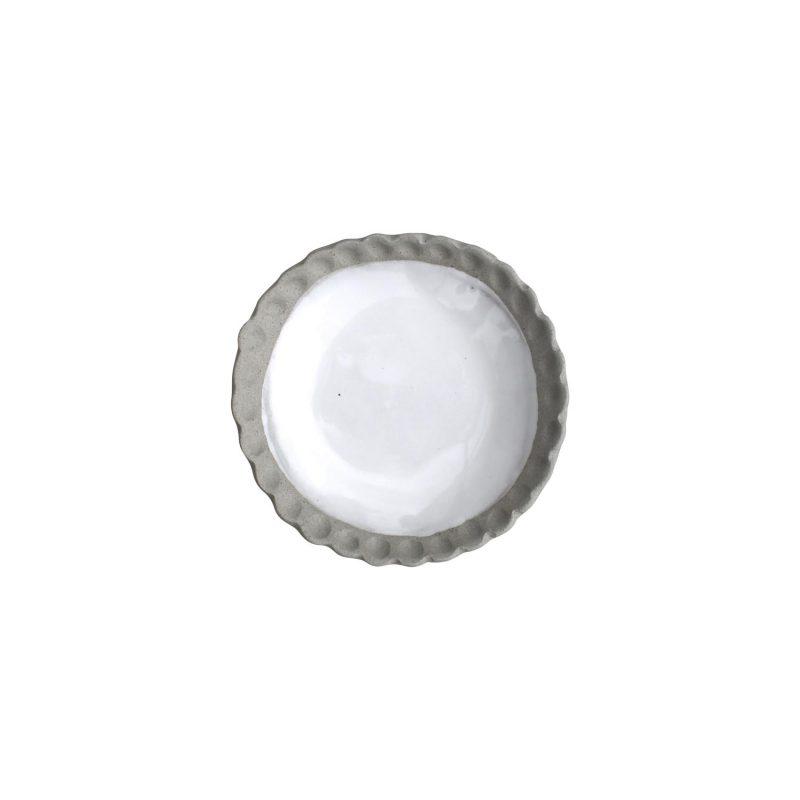 curves white glazed dish
