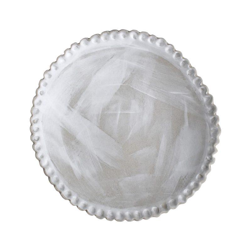 Curves white stroke platter