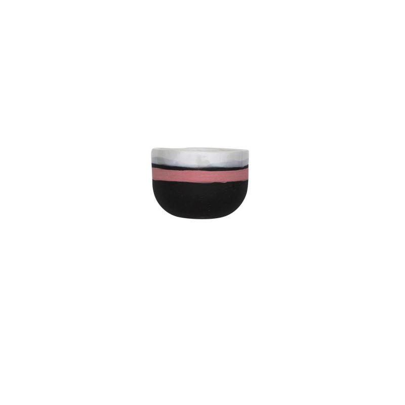 Curves black hug mug - pink rim