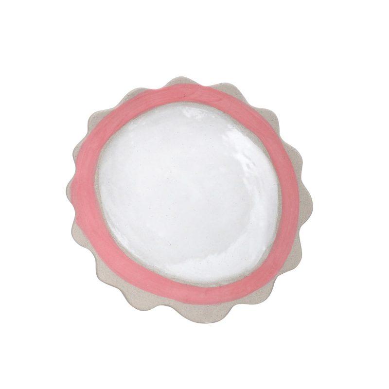 Curves pink rim plate